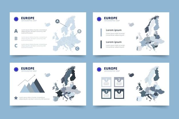 Mappa di europa disegnata a mano infografica