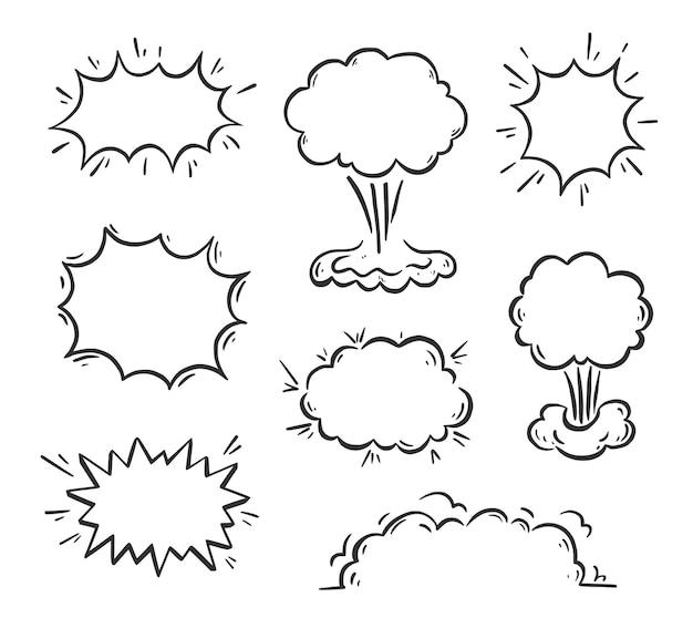 Hand drawn explosion speech bubble