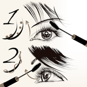 Hand drawn eyes design