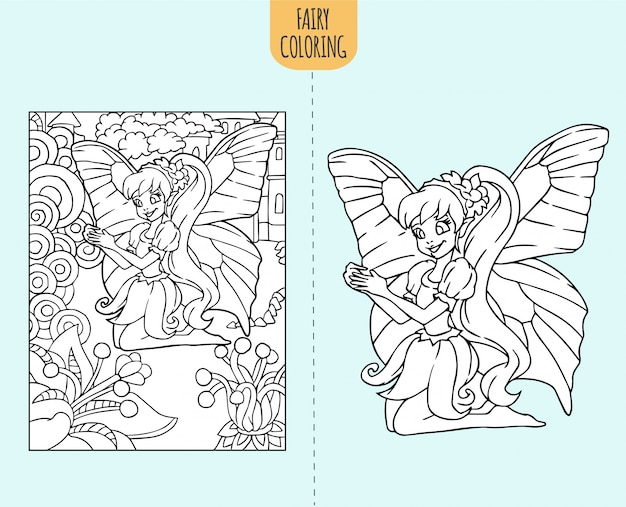 Creative Haven Magical Fairies Coloring Book | Fairy coloring ... | 507x626