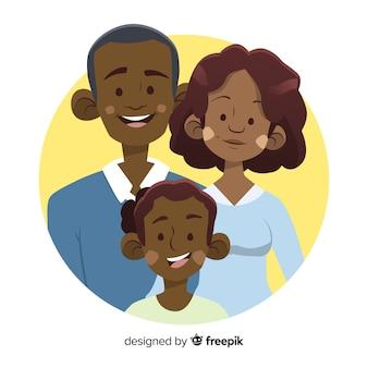 Hand drawn family portrait
