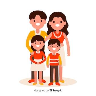 손으로 그린 가족 초상화