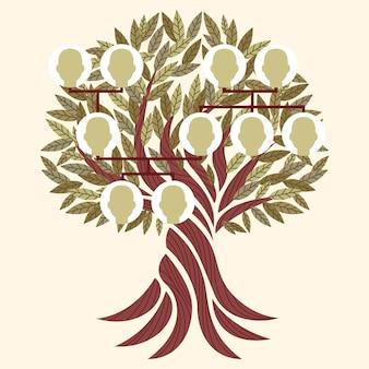 Hand drawn family tree illustration