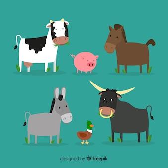 Hand drawn farm animal collection
