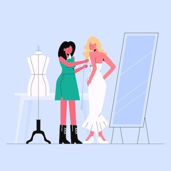 手描きのファッションデザイナー