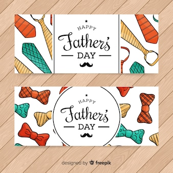 Hand drawn father's day banners