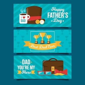 Banner festa del papà disegnati a mano