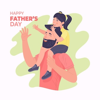 손으로 그린 아버지의 날 그림