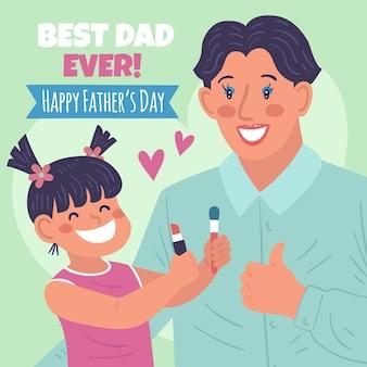Нарисованная рукой иллюстрация дня отца