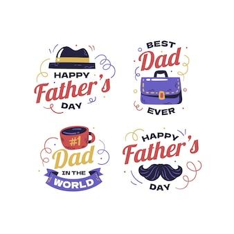 Коллекция наклеек на день отца