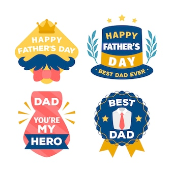Hand drawn father's day labels