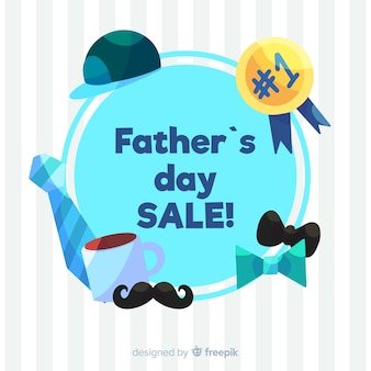 Hand drawn father's day sale background