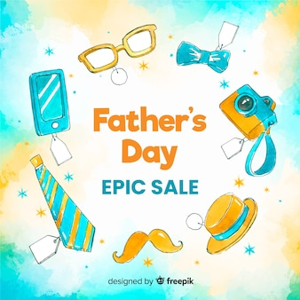 Hand drawn fathers day sale background