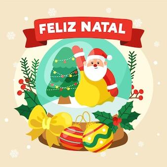Hand drawn feliz natal