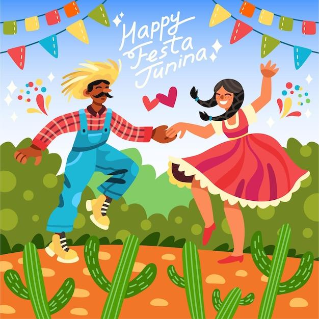 Hand drawn festa junina illustration