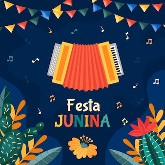 Нарисованная рукой иллюстрация festa junina