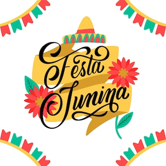 Hand drawn festa junina lettering