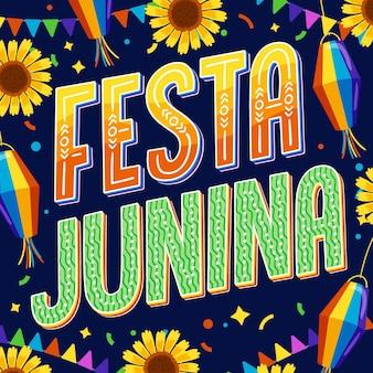 Lettering festa junina disegnato a mano
