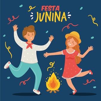 Hand drawn festa junina