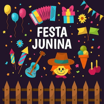 Hand drawn festa junina