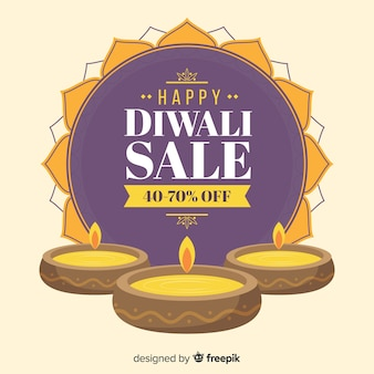 Hand drawn festive diwali sale offers