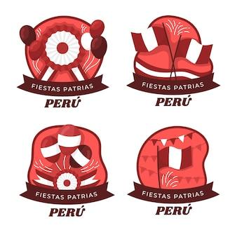 Коллекция значков фиесты патриаса перу