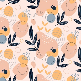 Hand drawn flat abstract shapes pattern design