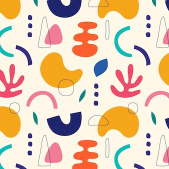 Disegno del modello di forme astratte piatte disegnate a mano