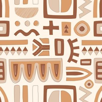 手描きの平らな抽象的な形のパターン