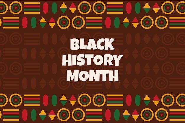 Hand drawn flat black history month background