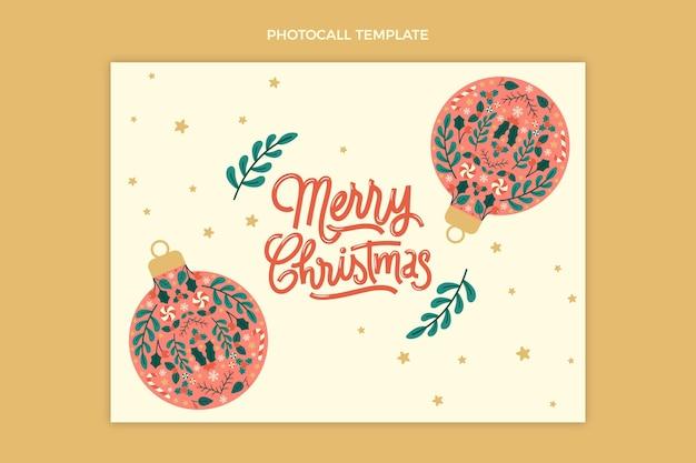 Ручной обращается плоский рождественский шаблон для фотосессии