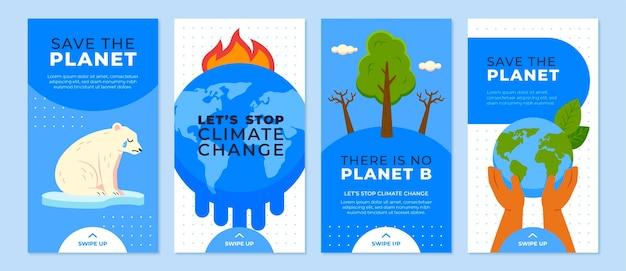 손으로 그린 평면 기후 변화 instagram 이야기 모음