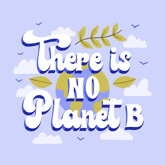 Hand drawn flat climate change lettering