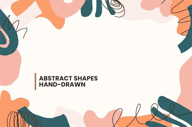 Fondo di forme astratte di design piatto disegnato a mano