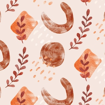 Hand drawn flat design abstract shapes pattern