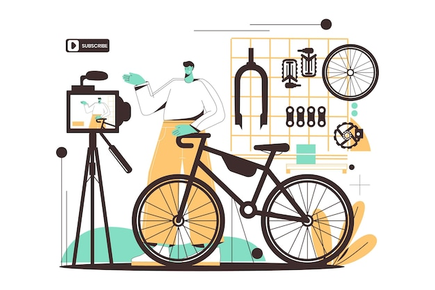 Ручной обращается плоский дизайн блоггеров