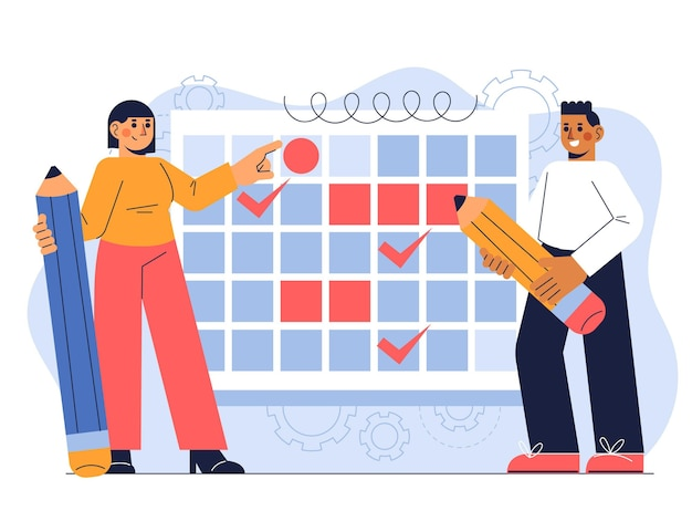 手描きフラットデザイン事業計画コンセプト