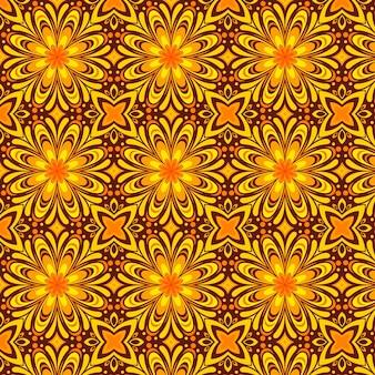 손으로 그린 플랫 그루비 환각 패턴 디자인