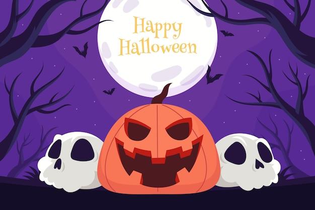 Ручной обращается плоский фон хэллоуина
