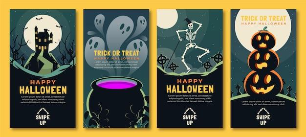 Коллекция историй в instagram на хэллоуин