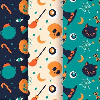 Ручной обращается плоский дизайн хэллоуина