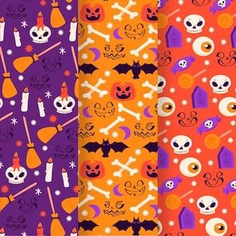 Коллекция рисованной плоских хэллоуин