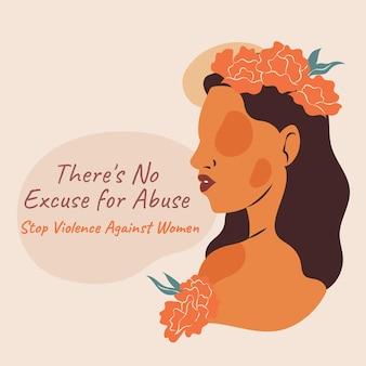 Giornata internazionale piatta disegnata a mano per l'eliminazione della violenza contro le donne illustrazione