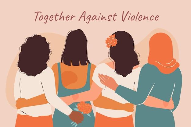 Ручной обращается плоский международный день борьбы с насилием в отношении женщин