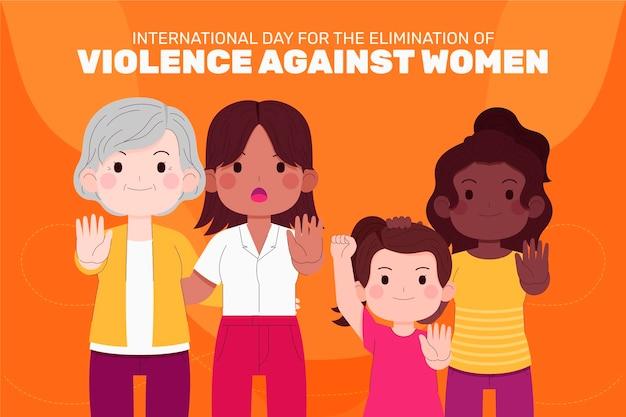 Ручной обращается плоский международный день борьбы за ликвидацию насилия в отношении женщин