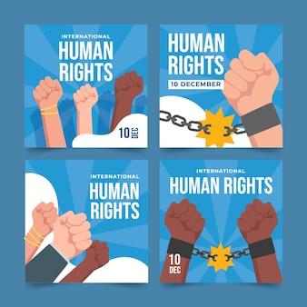手描きのフラットな国際人権デーのinstagramの投稿コレクション