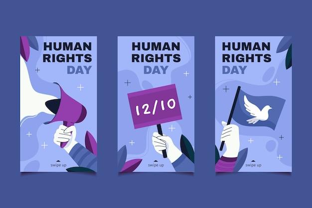 手描きフラット国際人権デーinstagramストーリーコレクション