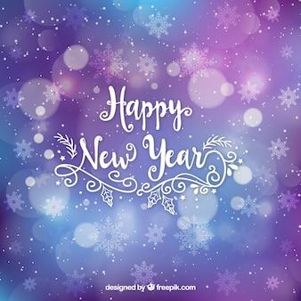 Hand drawn flat new year 2018 background
