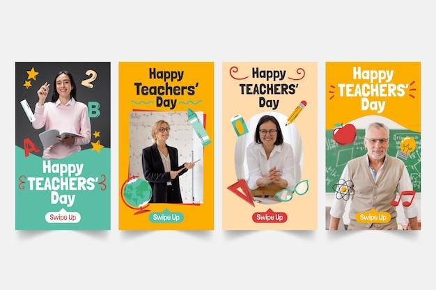Коллекция историй instagram на день учителя с фото