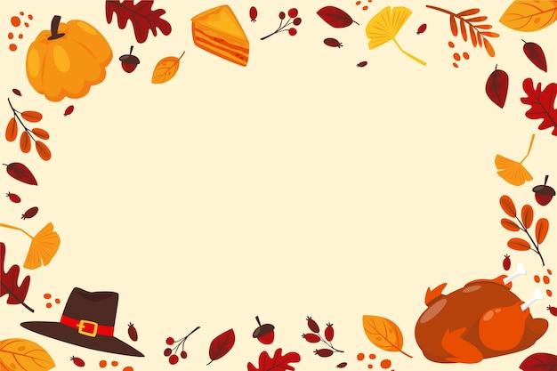 Ручной обращается плоский фон благодарения